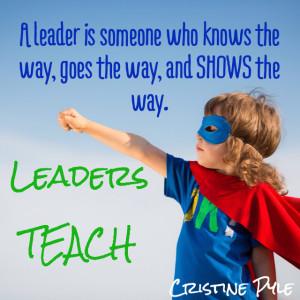 Leaders Teach